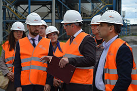 The Chairman of Economic Development Committee of Leningrad Region Visits PETERBURGCEMENT. Åâðîöåìåíò